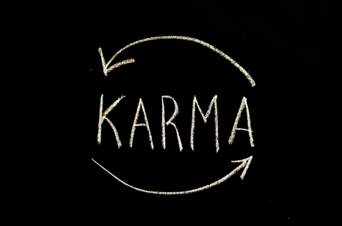 karma written on chalkboard